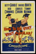 """Movie Posters:Comedy, How to Be Very, Very Popular (20th Century Fox, 1955). One Sheet (27"""" X 41""""). Comedy. Starring Betty Grable, Sheree North, R..."""