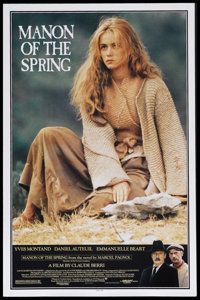 """Manon of the Spring (Orion Classics, 1987). One Sheet (27"""" X 41""""). Drama. Starring Yves Montand, Daniel Auteui..."""