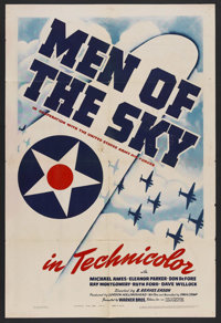 """Men of the Sky (Warner Brothers, 1942). One Sheet (27"""" X 41""""). War Short. Starring Tod Andrews (as Michael Ame..."""