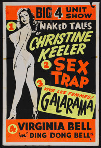 "The Naked Tales of Christine Combo (Unknown, 1963). One Sheet (27"" X 41""). Little is known about this film oth..."
