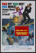 """Movie Posters:James Bond, On Her Majesty's Secret Service (United Artists, 1969). One Sheet (27"""" X 41"""") Style B. Unknown George Lazenby was hired to f..."""