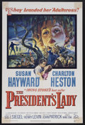 "Movie Posters:Drama, The President's Lady (20th Century Fox, 1953). One Sheet (27"" X 41""). Drama. Starring Susan Hayward, Charlton Heston and Joh..."