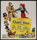 """Movie Posters:Drama, The Quiet Man (Republic, 1951). Six Sheet (81"""" X 81""""). John Ford'spersonal favorite of all of his films was """"The Quiet Man...."""