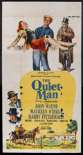 "Movie Posters:Drama, The Quiet Man (Republic, 1952). Three Sheet (41"" X 81""). Of all ofthe films that John Ford directed, his personal favorite ..."
