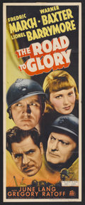 """Movie Posters:War, The Road to Glory (20th Century Fox, 1936). Insert (14"""" X 36"""").War. Starring Fredric March, Warner Baxter, June Lang, Lione..."""