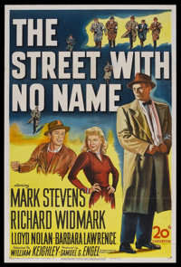"""The Street With No Name (20th Century Fox, 1948). One Sheet (27"""" X 41""""). Crime. Starring Mark Stevens, Richard..."""