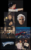 """Movie Posters:Action, Superman: the Movie (Warner Brothers, 1978). Deluxe Lobby Cards (7)(11"""" X 14""""). Sci-Fi Adventure. Starring Marlon Brando, G... (Total:8 Items)"""
