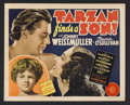 "Movie Posters:Adventure, Tarzan Finds a Son (MGM, 1939). Title Lobby Card (11"" X 14"").Action Adventure. Starring Johnny Weissmuller, Maureen O'Sulli..."