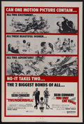 "Movie Posters:James Bond, Thunderball/You Only Live Twice Combo (United Artists, 1970). OneSheet (27"" X 41""). James Bond Action. Starring Sean Conner..."