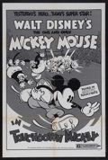 "Movie Posters:Animated, Touchdown Mickey (Buena Vista, R-1974). One Sheet (27"" X 41"").Animated. Starring the voices of Walt Disney and Pinto Colvig..."