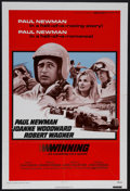 "Movie Posters:Action, Winning (Universal, R-1973). One Sheet (27"" X 41""). Sports Drama.Starring Paul Newman, Joanne Woodward and Robert Wagner. D..."