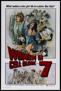 "Women in Cell Block 7 (Aquarius Releasing, 1974). One Sheet (27"" X 41""). Crime. Starring Paola Senatore, Crist..."