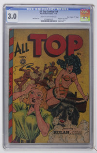 "All Top Comics #14 Davis Crippen (""D"" Copy) pedigree (Fox Features Syndicate, 1948) CGC GD/VG 3.0 Cream to off..."