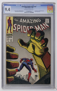 The Amazing Spider-Man #67 (Marvel, 1968) CGC NM 9.4 Off-white to white pages