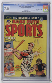 "Babe Ruth Sports Comics #9 Davis Crippen (""D"" Copy) pedigree (Harvey, 1950) CGC FN/VF 7.0 White pages"