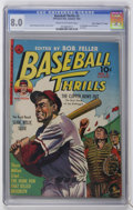 "Golden Age (1938-1955):Miscellaneous, Baseball Thrills #3 Davis Crippen (""D"" Copy) pedigree (Ziff-Davis, 1952) CGC VF 8.0 Cream to off-white pages...."