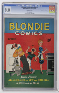 "Blondie Comics #1 Davis Crippen (""D"" Copy) pedigree (David McKay Publications, 1947) CGC VF 8.0 Off-white page..."