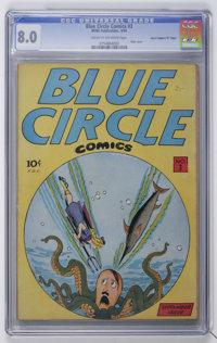 "Blue Circle Comics #3 Davis Crippen (""D"" Copy) pedigree (Rewl, 1944) CGC VF 8.0 Cream to off-white pages"