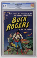 """Golden Age (1938-1955):Science Fiction, Buck Rogers #100 (#7) Davis Crippen (""""D"""" Copy) pedigree (Toby Publishing, 1951) CGC FN/VF 7.0 Off-white to white pages...."""