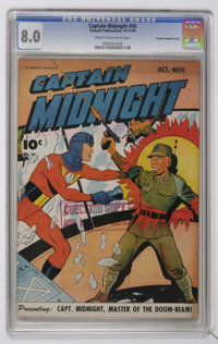 Captain Midnight #34 (Fawcett, 1945) CGC VF 8.0 Cream to off-white pages
