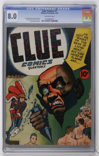 Clue Comics #7 (Hillman Publications, 1943) CGC VF 8.0 Off-white pages