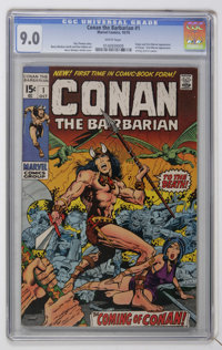 Conan the Barbarian #1 (Marvel, 1970) CGC VF/NM 9.0 White pages