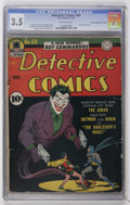 "Golden Age (1938-1955):Superhero, Detective Comics #69 Davis Crippen (""D"" Copy) pedigree (DC, 1942) CGC VG- 3.5 Off-white pages...."