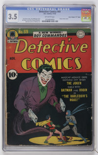 "Detective Comics #69 Davis Crippen (""D"" Copy) pedigree (DC, 1942) CGC VG- 3.5 Off-white pages"