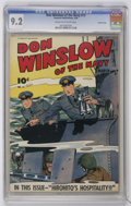Golden Age (1938-1955):War, Don Winslow of the Navy #13 Crowley Copy pedigree (Fawcett, 1944) CGC NM- 9.2 Cream to off-white pages....