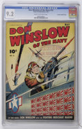 Golden Age (1938-1955):War, Don Winslow of the Navy #15 Crowley Copy/File Copy (Fawcett, 1944)CGC NM- 9.2 Cream to off-white pages....