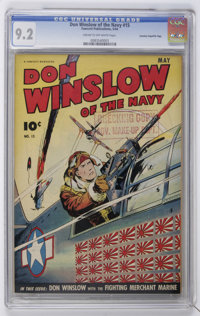 Don Winslow of the Navy #15 Crowley Copy/File Copy (Fawcett, 1944) CGC NM- 9.2 Cream to off-white pages