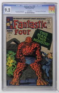 Fantastic Four #51 (Marvel, 1966) CGC NM- 9.2 White pages