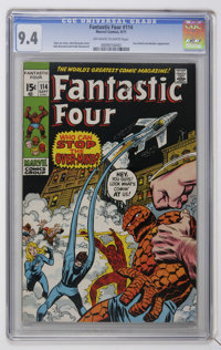 Fantastic Four #114 (Marvel, 1971) CGC NM 9.4 Off-white to white pages