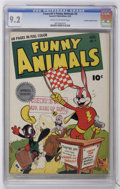 Golden Age (1938-1955):Funny Animal, Fawcett's Funny Animals #9 Crowley Copy/File Copy (Fawcett, 1943)CGC NM- 9.2 Cream to off-white pages....