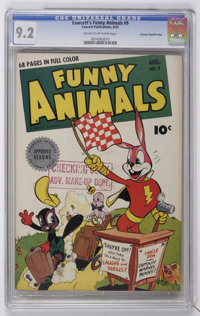 Fawcett's Funny Animals #9 Crowley Copy/File Copy (Fawcett, 1943) CGC NM- 9.2 Cream to off-white pages