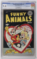 Golden Age (1938-1955):Funny Animal, Fawcett's Funny Animals #15 Crowley Copy/File Copy (Fawcett, 1944) CGC NM 9.4 Cream to off-white pages....