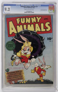 Golden Age (1938-1955):Humor, Fawcett's Funny Animals #17 Crowley Copy/File Copy (Fawcett, 1944) CGC NM- 9.2 Cream to off-white pages....