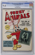 Golden Age (1938-1955):Funny Animal, Fawcett's Funny Animals #20 Crowley Copy/File Copy (Fawcett, 1944)CGC VF/NM 9.0 Cream to off-white pages....