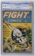 "Golden Age (1938-1955):War, Fight Comics #27 Davis Crippen (""D"" Copy) pedigree (Fiction House,1943) CGC FN/VF 7.0 Off-white to white pages...."