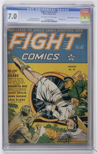 "Fight Comics #27 Davis Crippen (""D"" Copy) pedigree (Fiction House, 1943) CGC FN/VF 7.0 Off-white to white page..."