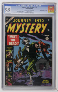 """Journey Into Mystery #11 Davis Crippen (""""D"""" Copy) pedigree (Marvel, 1953) CGC FN- 5.5 Cream to off-white pages..."""