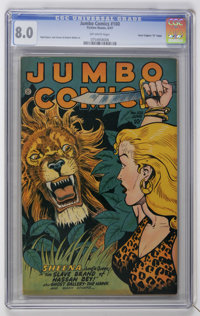 "Jumbo Comics #100 Davis Crippen (""D"" Copy) pedigree (Fiction House, 1947) CGC VF 8.0 Off-white pages"