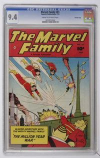 The Marvel Family #61 Crowley Copy pedigree (Fawcett, 1951) CGC NM 9.4 Cream to off-white pages
