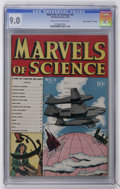 "Golden Age (1938-1955):Miscellaneous, Marvels of Science #3 Davis Crippen (""D"" Copy) pedigree (Charlton, 1946) CGC VF/NM 9.0 Cream to off-white pages...."