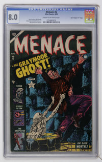 "Menace #6 Davis Crippen (""D"" Copy) pedigree (Atlas, 1953) CGC VF 8.0 Cream to off-white pages"