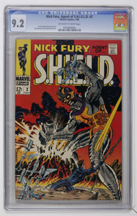 Nick Fury, Agent of SHIELD #2 (Marvel, 1968) CGC NM- 9.2 Off-white to white pages
