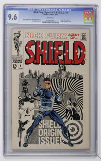 Nick Fury, Agent of SHIELD #4 (Marvel, 1968) CGC NM+ 9.6 White pages