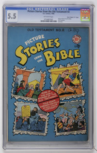 "Picture Stories from the Bible - the Old Testament #2 Davis Crippen (""D"" Copy) pedigree (EC, 1946) CGC FN- 5.5..."