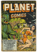 Golden Age (1938-1955):Science Fiction, Planet Comics #25 (Fiction House, 1943) Condition: FR....