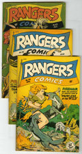 "Golden Age (1938-1955):War, Rangers Comics Group - Davis Crippen (""D"" Copy) pedigree (FictionHouse, 1948-50).... (Total: 4)"